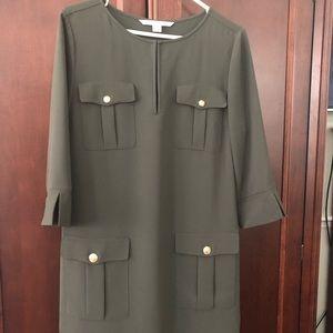 Gorgeous Diane Von Furstenberg Army Green Dress